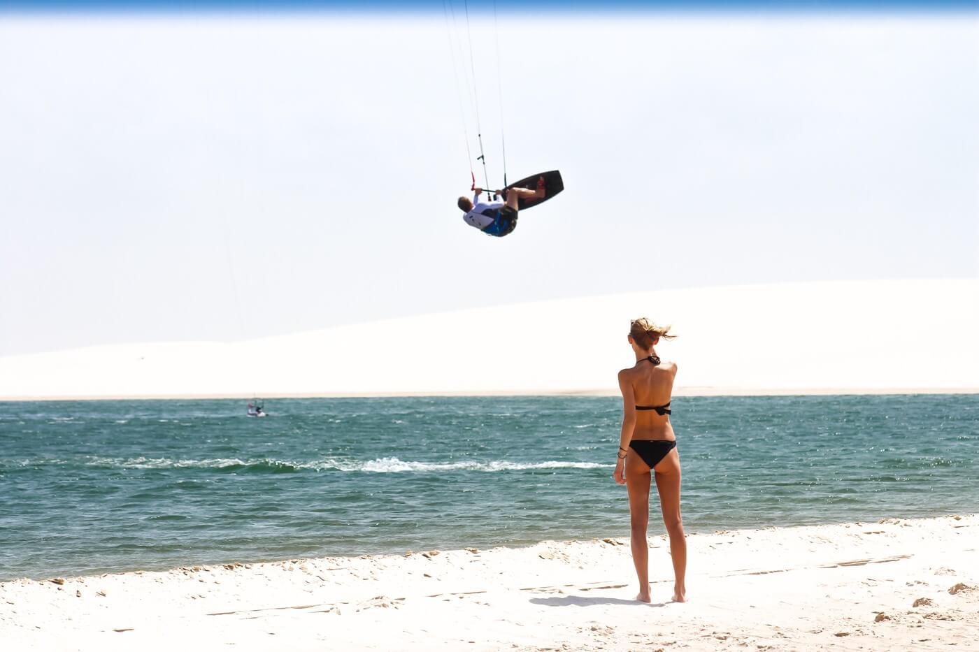 Kitesurfing in Cumbuco
