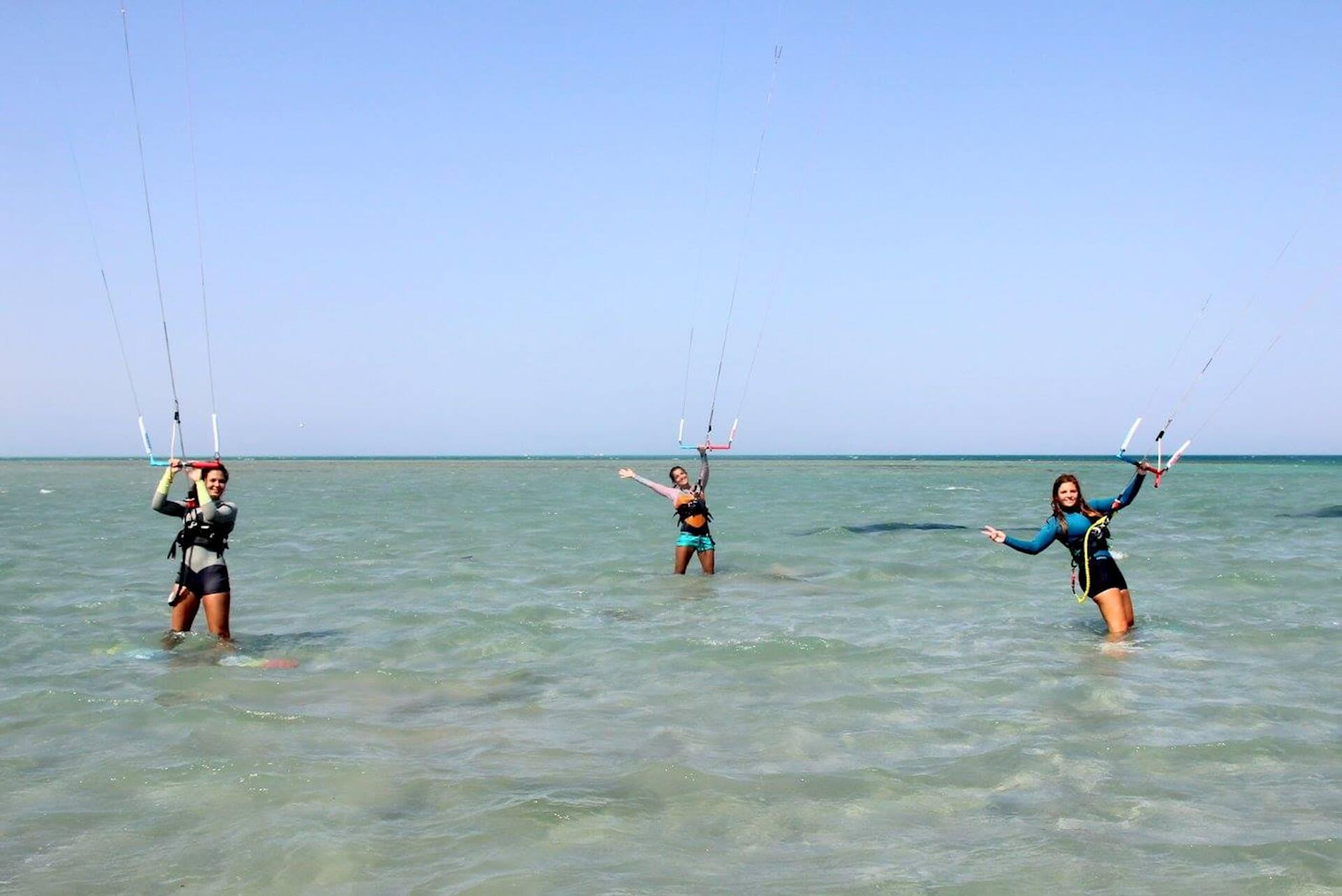 Girls Kitesurf Camp El Gouna Egypt
