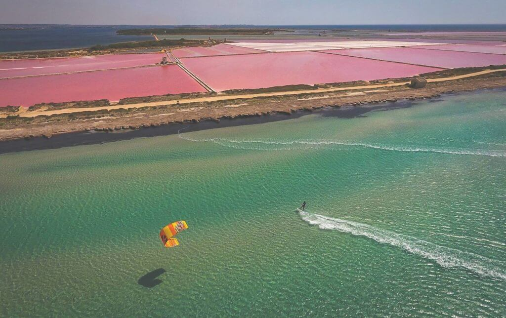 Kiteboarding in Sicily Italy