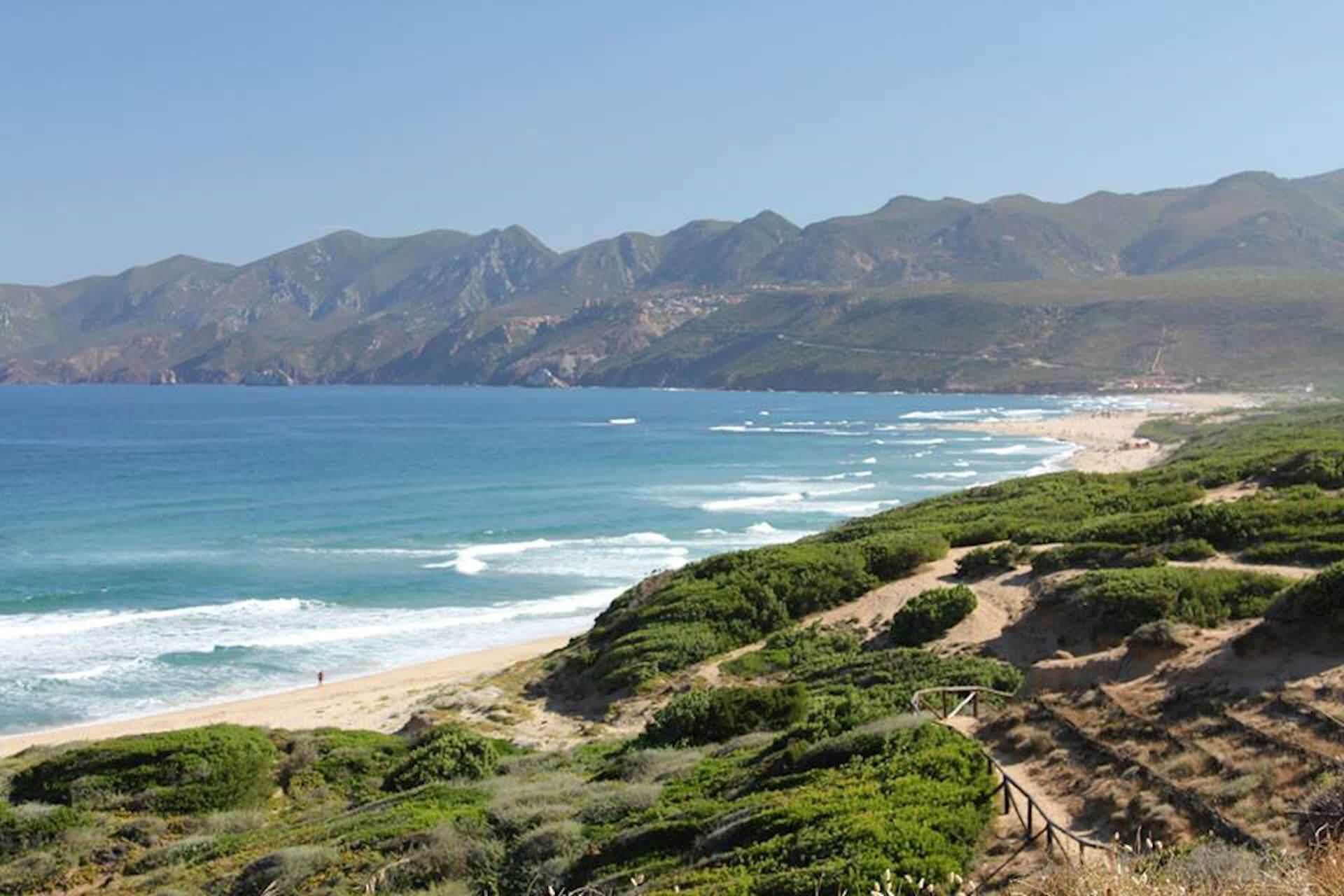 Kitesurfing spot on Sardinia Italy