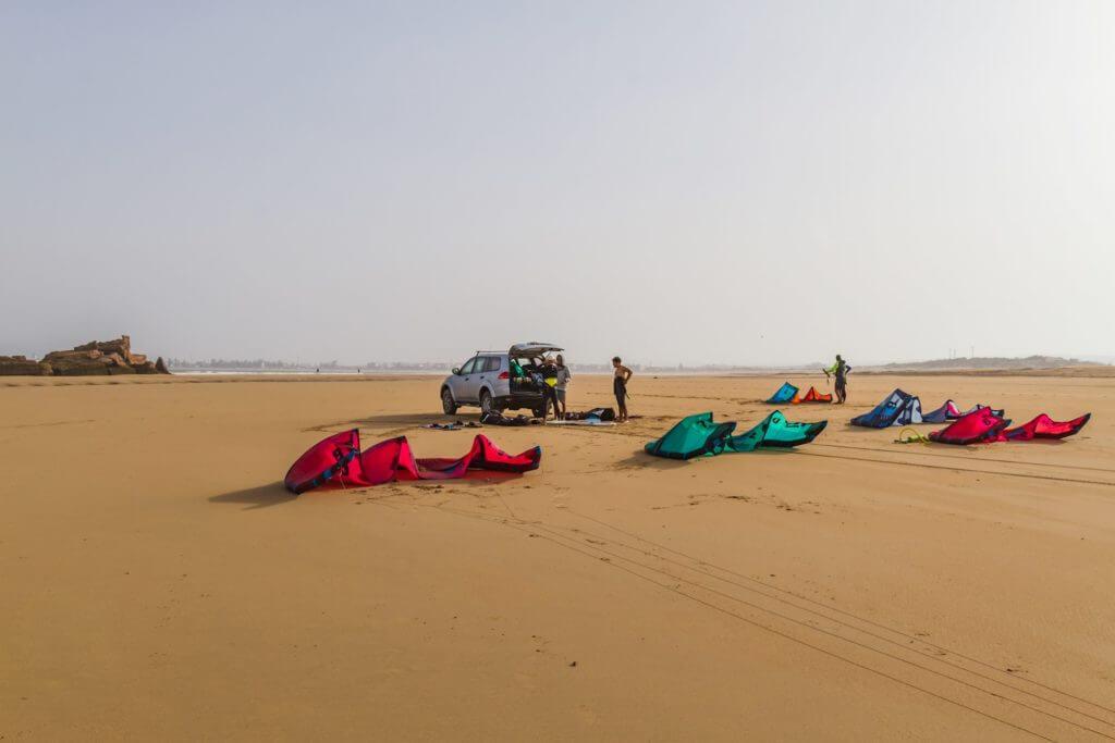 kiteboarding in Essaouira, Morocco