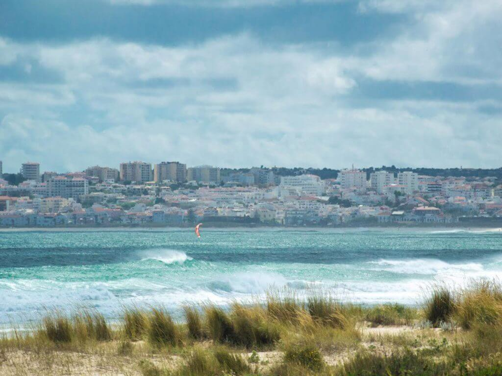 wave kitesurfing in Portugal