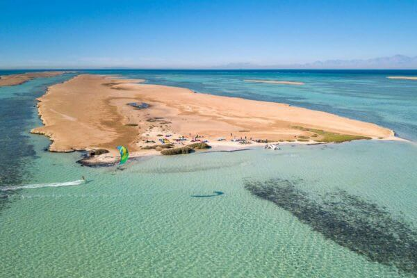 Kiteboarding in the Red Sea, Egypt