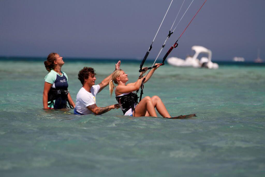 Kiteboarding lessons in Egypt