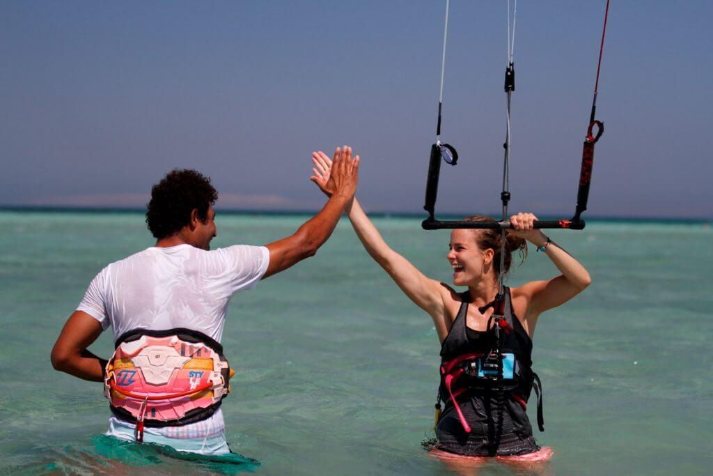 Kiteboarding lessons in El Gouda