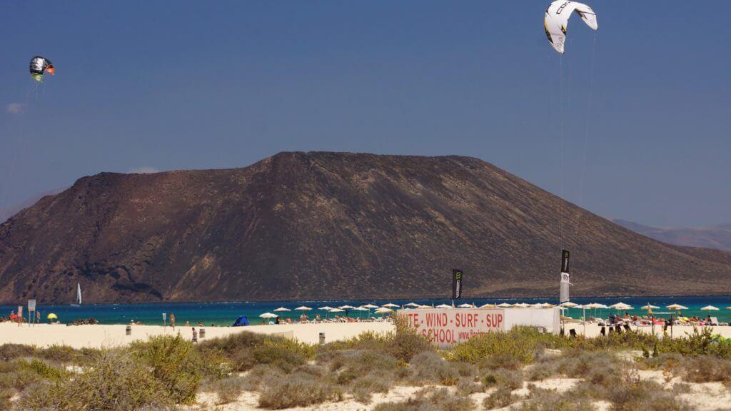 Kiteboarding in Flag Beach Fuerteventura