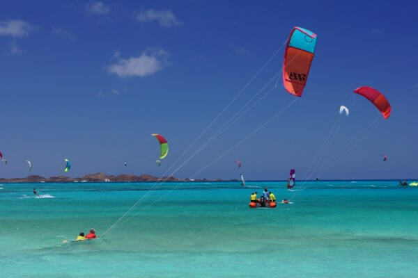 Learning to kitesurf in Fuerteventura