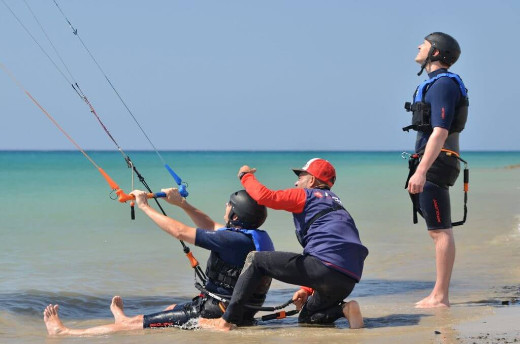 kiteboarding lessons in Fuerteventura