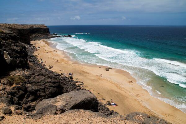 Kite beach Fuerteventura from above