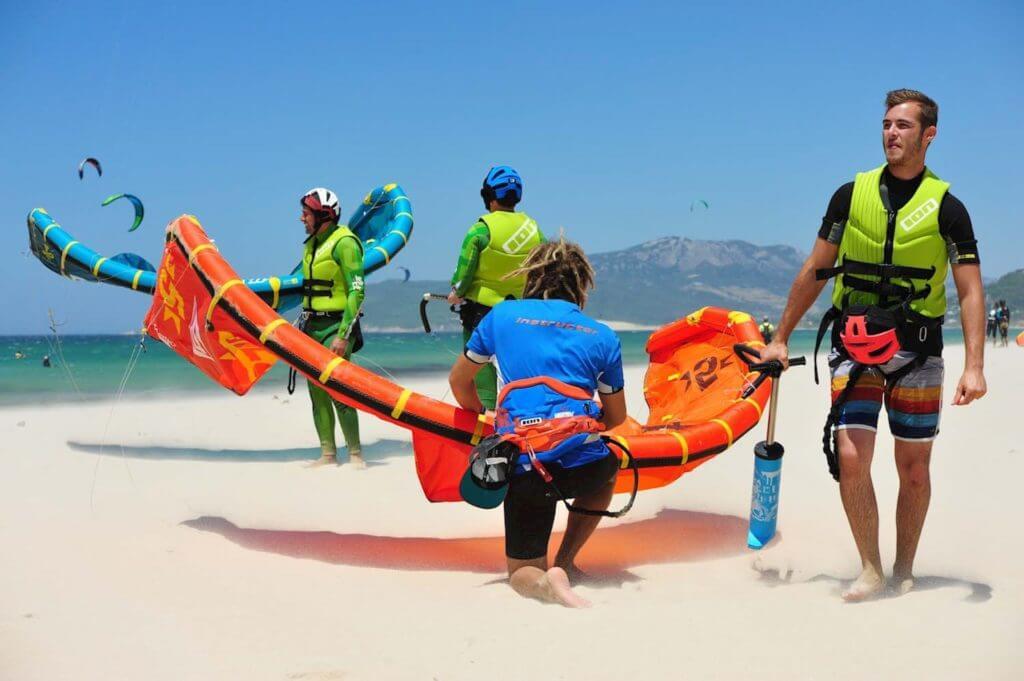 Summer kiteboarding season in Tarifa