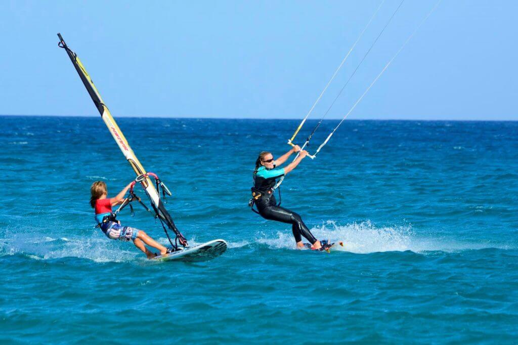 Kiteboarding and windsurfing in Fuerteventura